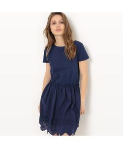MADEMOISELLE R | Платье Из Двух Материалов С Английским Шитьем