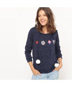 Molly Bracken | Пуловер С Длинными Рукавами Нашивками И Помпонами