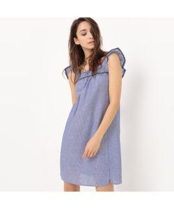R édition | Платье Из Ткани Шамбре С Короткими Рукавами И Воланами