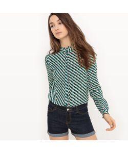 MADEMOISELLE R | Рубашка С Воланами И Геометрическим Принтом