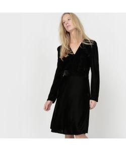 atelier R | Платье Из Велюра С V-Образным Вырезом