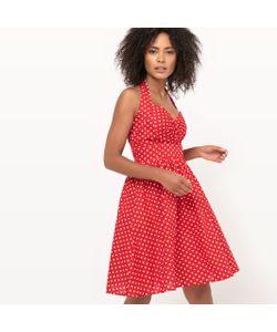 Molly Bracken | Платье Расклешенное С Вырезом И Рисунком В Горох