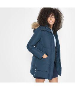 R essentiel | Куртка Стёганая Средней Длины С Капюшоном Из Искусственного Меха