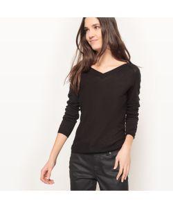 R essentiel | Пуловер С V-Образным Вырезом Спереди И Сзади Из Хлопка И Льна