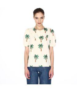 Pepaloves | Блузка С Короткими Рукавами И Вышивкой В Виде Пальм