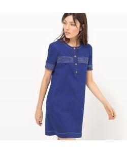 MADEMOISELLE R | Платье Из Денима С Короткими Рукавами Однотонное