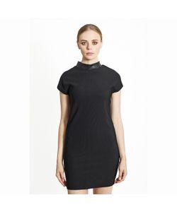 MIGLE+ME | Платье Короткое С Высоким Воротником.