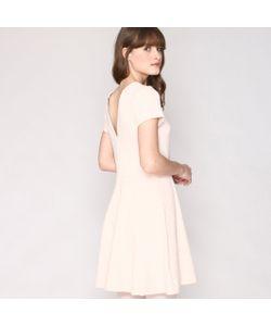 Pepaloves   Платье Расклешенное С Кружевом И V-Образным Вырезом Сзади