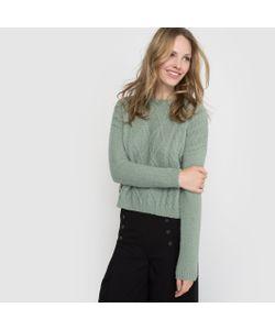 R édition | Пуловер Короткий С Узором Косы