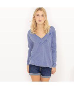 SUD EXPRESS | Пуловер С V-Образным Вырезом И Декольте Сзади