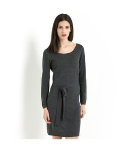 LAURA CLEMENT | Платье-Свитер Прямого Покроя 100 Мериносовой Шерсти