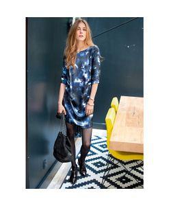 SOFT GREY | Платье С Рисунком 100 Шелка