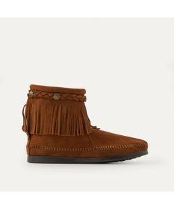 Minnetonka | Ботинки С Отделкой Бахромой И Плетением На Щиколотке Из Замшевой Кожи