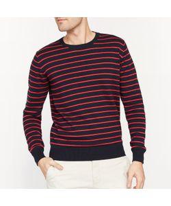 R essentiel | Пуловер В Полоску С Круглым Вырезом 100 Хлопок