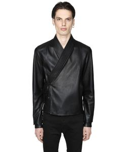 Diesel Black Gold | Smooth Leather Kimono Style Jacket