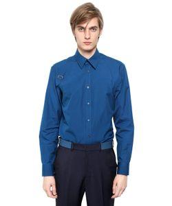 Alexander McQueen | Рубашка Из Хлопкового Стрейч Поплин