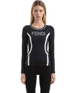 Fendi | Футболка Из Стретч Джерси С Тиснёным Логотипом