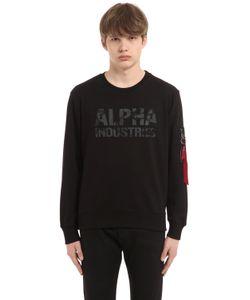 Alpha Industries | Свитшот Из Хлопковой Махровой Ткани С Логотипом