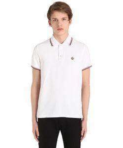 Moncler | Рубашка-Поло Из Хлопка Пикé