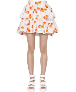 MSGM | Laye Printed Cotton Poplin Skirt