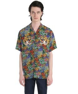 Gucci | Рубашка Из Шёлкового Крепа С Принтом