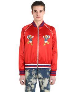 Gucci | Куртка-Бомбер Donald Duck Из Шёлкового Дюшес