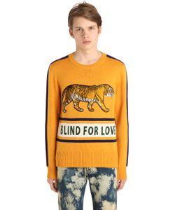 Gucci | Шерстяной Свитер С Нашивкой Тигр