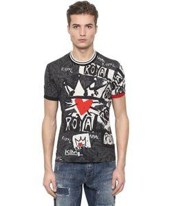 Dolce & Gabbana | Футболка Из Хлопкового Джерси С Принтом