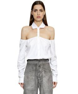 RTA | Cotton Poplin Shirt W Cut Out Shoulders