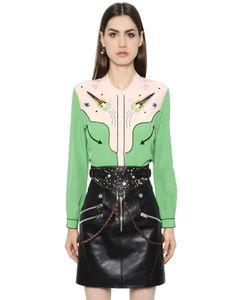 COACH | Рубашка Из Шёлкового Крепа С Вышивкой