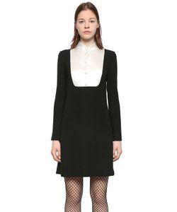 Lanvin   Платье Из Кади С Атласным Пластроном
