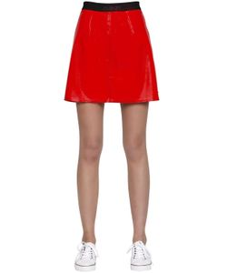 Calvin Klein Jeans | Kiti Faux Patent Leather Mini Skirt