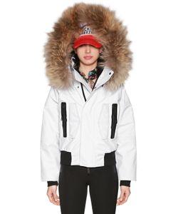Dsquared2 | Лыжная Куртка Из Нейлона С Мехом И Капюшоном