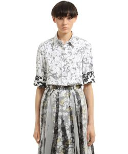 Jil Sander | Рубашка Из Двойного Хлопка С Цветочным Принтом