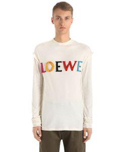 Loewe | Футболка Из Хлопка И Шёлка С Логотипом