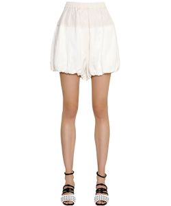SportMax | Puffed Viscose Linen Shorts