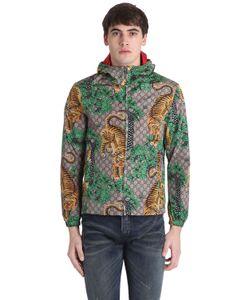 Gucci   Куртка Из Нейлона С Жаккардовым Узором Gg