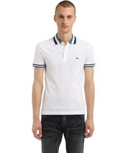 Lacoste | Рубашка-Поло Из Хлопка Пикé В Полоску
