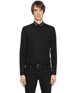 Mcq Alexander Mcqueen | Рубашка Из Хлопкового Поплин С Вышивкой