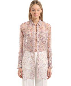 Calvin Klein Collection | Шёлковая Блузка С Цветочным Принтом