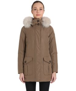 Peuterey | Xomo Gb Taffeta Down Parka With Fur Trim