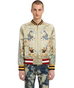 Gucci | Куртка-Бомбер Из Полушёлкового Дюшес