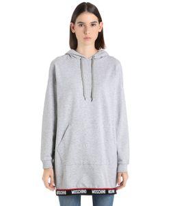 Moschino   Платье-Свитшот С Капюшоном И Логотипом