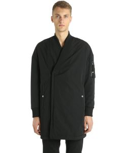 Diesel Black Gold   Длинная Куртка-Бомбер Из Техноматериала
