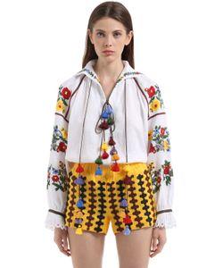 Vita Kin | Льняная Блузка С Цветочной Вышивкой