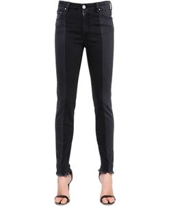 Don'T Cry | Skinny Mid Rise Two Tone Denim Jeans