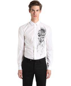 Versace | Рубашка Из Поплин С Принтом Medusa