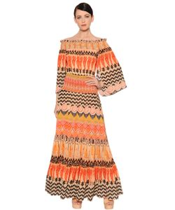 Temperley London | Off The Shoulder Printed Crepe Dress