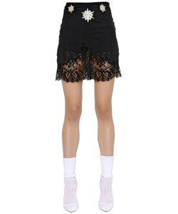 Francesco Scognamiglio | Embroide Crepe Lace Skirt