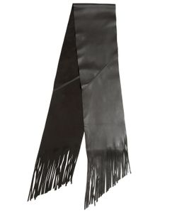 GTIE | Fringed Leather Scarf